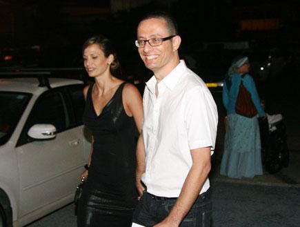 ארז טל ואשתו חתונה קרן פלס (צילום: אורי אליהו)